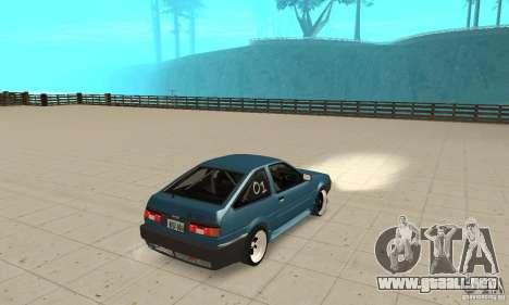 Toyota Sprinter para GTA San Andreas left