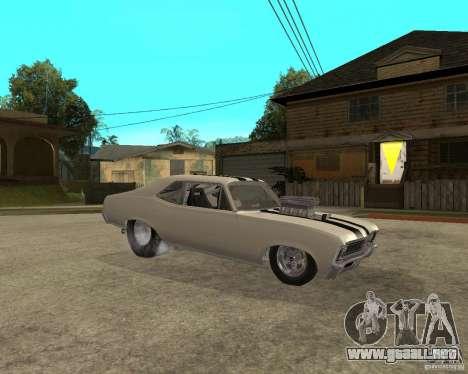 1969 Chevrolet Nova ProStreet Dragger para la visión correcta GTA San Andreas