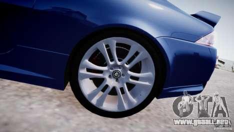 Jaguar XKR-S 2012 para GTA 4 vista interior