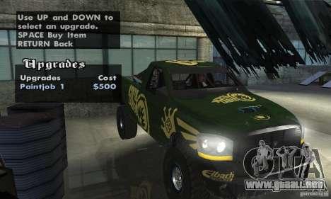 Dodge Power Wagon Paintjobs Pack 1 para GTA San Andreas vista hacia atrás