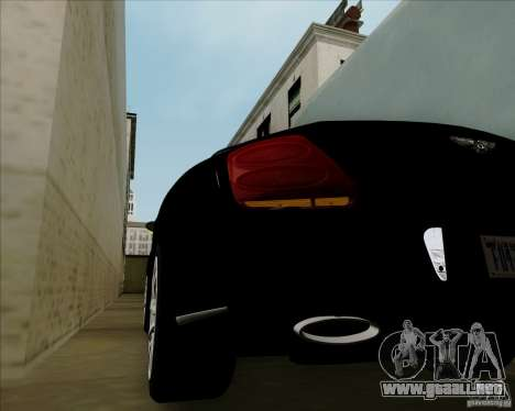 Bentley Continental GT V1.0 para vista lateral GTA San Andreas