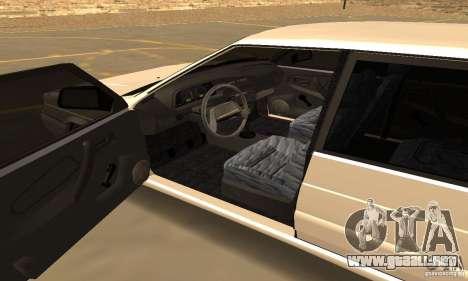 Ваз Dag 2114 estilo para GTA San Andreas vista hacia atrás