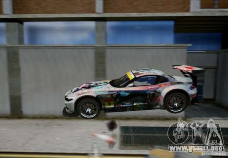 BMW Z4 GT3 2010 V.2.0 para GTA 4 vista superior