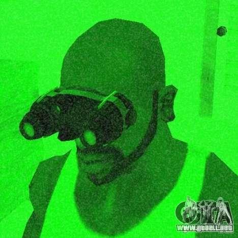 Goggles HD para GTA San Andreas quinta pantalla