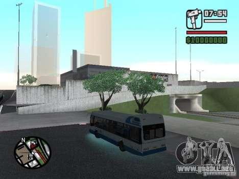 DAF para GTA San Andreas vista posterior izquierda