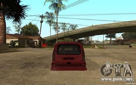 Renault Kangoo Tuning para GTA San Andreas vista posterior izquierda