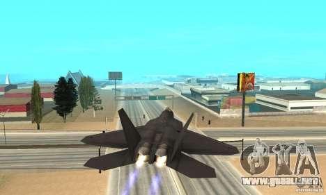 F-22 Black para visión interna GTA San Andreas