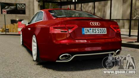Audi RS5 2012 para GTA 4 Vista posterior izquierda