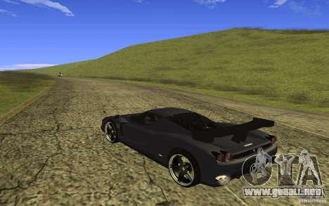 Ferrari Enzo ImVehFt para GTA San Andreas vista posterior izquierda