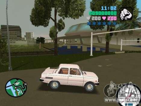ZAZ 968 para GTA Vice City vista lateral izquierdo