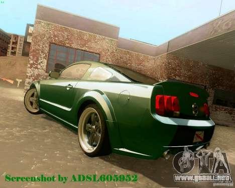 Ford Mustang GT 2005 Tunable para visión interna GTA San Andreas
