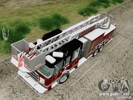 Pierce Rear Mount SFFD Ladder 49 para visión interna GTA San Andreas