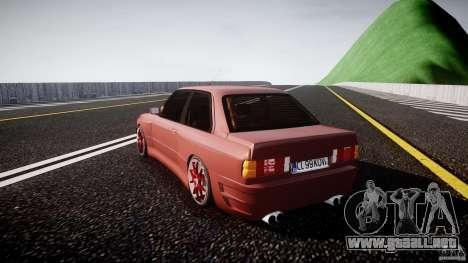 BMW E30 v8 para GTA 4 Vista posterior izquierda