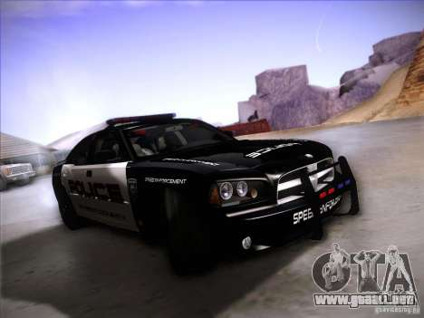 Dodge Charger RT Police Speed Enforcement para GTA San Andreas left