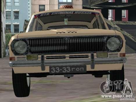 Taxi Volga GAZ-24 02 para la visión correcta GTA San Andreas