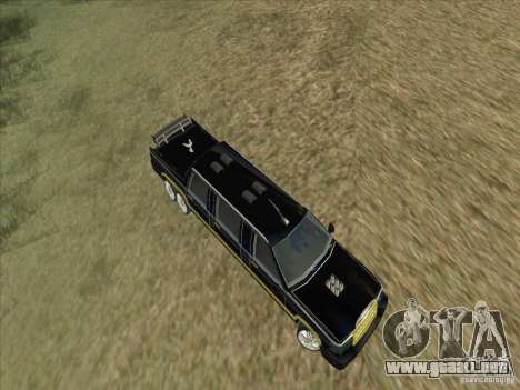 Limousine para visión interna GTA San Andreas