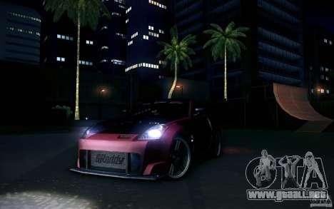 Nissan 350Z Fairlady para GTA San Andreas vista hacia atrás