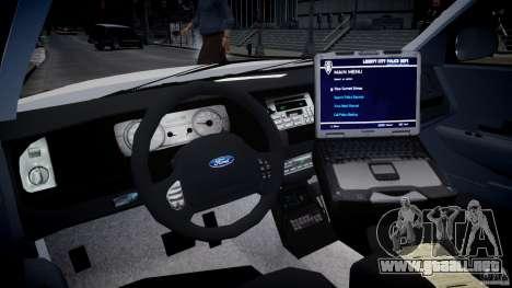 Ford Crown Victoria CVPI-V2.5V para GTA 4 visión correcta