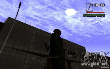 Nuevo bastón para GTA San Andreas sucesivamente de pantalla