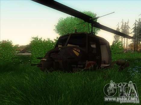 Helicóptero Huey de call of duty ops negro para GTA San Andreas