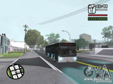 CityLAZ 12 LF para vista lateral GTA San Andreas