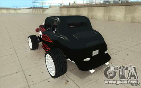 Ford Hot Rod 1934 v2 para GTA San Andreas vista posterior izquierda