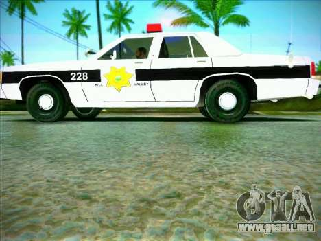 Ford Crown Victoria LTD 1991 HILL-VALLEY Police para GTA San Andreas left