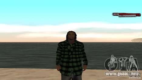 New skin Grove HD para GTA San Andreas quinta pantalla