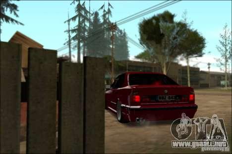 BMW M5 E34 Street para GTA San Andreas vista hacia atrás