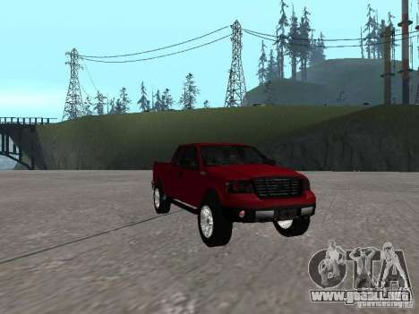 Ford F-150 2005 para GTA San Andreas vista hacia atrás