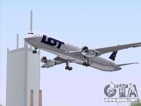 Boeing 787-9 LOT Polish Airlines para la vista superior GTA San Andreas