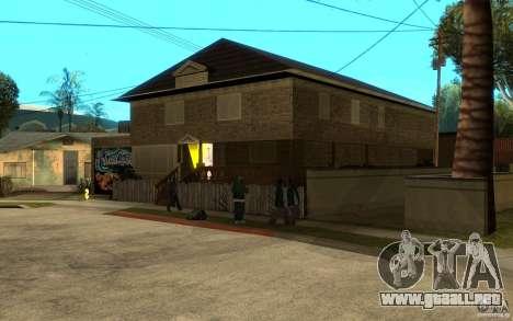 New great cjs house para GTA San Andreas segunda pantalla