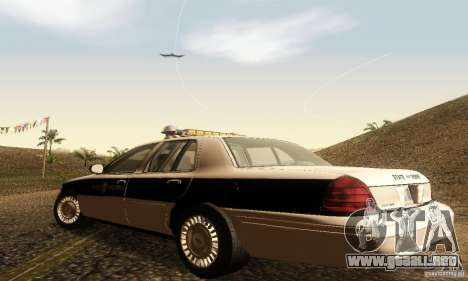 Ford Crown Victoria New Corolina Police para GTA San Andreas left