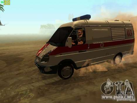 Gacela 32214 ambulancia para vista lateral GTA San Andreas