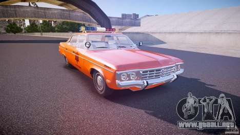 AMC Matador Hazzard County Sheriff [ELS] para GTA 4 vista interior
