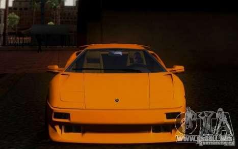 Lamborghini Diablo VTTT Black Revel para visión interna GTA San Andreas