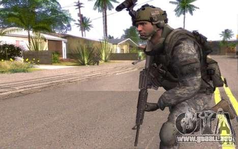 El cabo Dunn para GTA San Andreas segunda pantalla