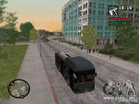 Daewoo BS110CN para GTA San Andreas vista posterior izquierda