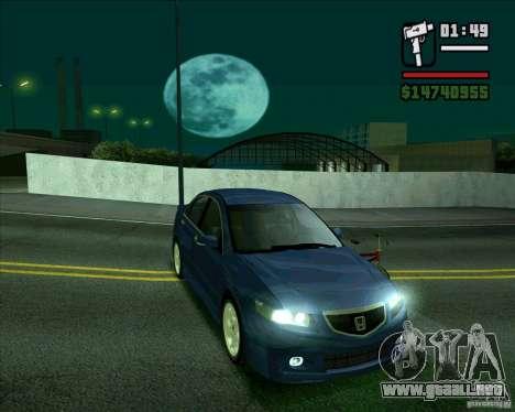 Honda Accord Type-S para GTA San Andreas vista posterior izquierda