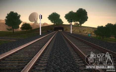 Rieles HD v 2.0 Final para GTA San Andreas sexta pantalla