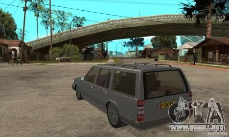 Volvo 945 Wentworth R para GTA San Andreas vista posterior izquierda
