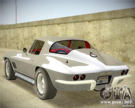 Chevrolet Corvette Stingray para GTA San Andreas left