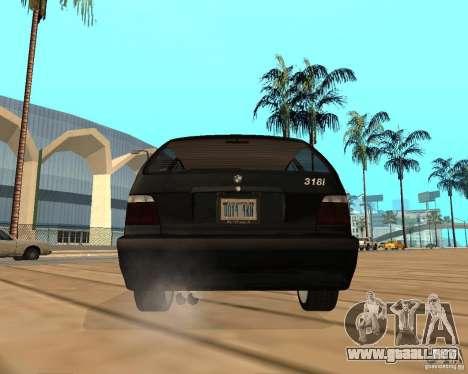 BMW 318i Touring para visión interna GTA San Andreas