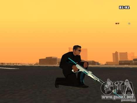 Blue Weapon Pack para GTA San Andreas tercera pantalla