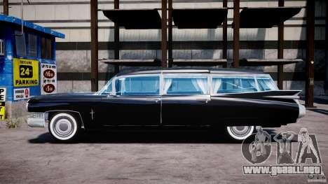 Cadillac Miller-Meteor Hearse 1959 para GTA 4 left