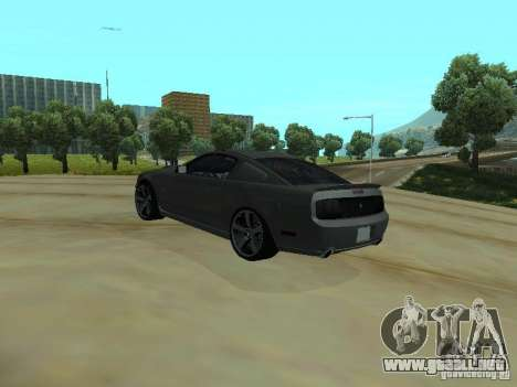 Ford Mustang GTS para GTA San Andreas vista posterior izquierda