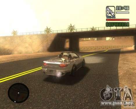 Real palms v2.0 para GTA San Andreas sucesivamente de pantalla