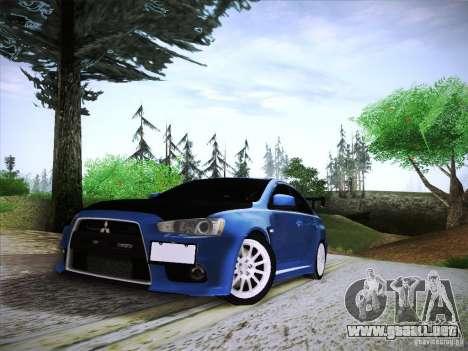Mitsubishi Lancer Evolution Drift Edition para GTA San Andreas vista hacia atrás