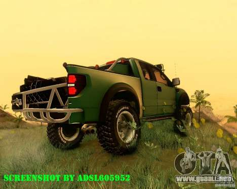Ford F150 2011 SVT RapTor para GTA San Andreas left