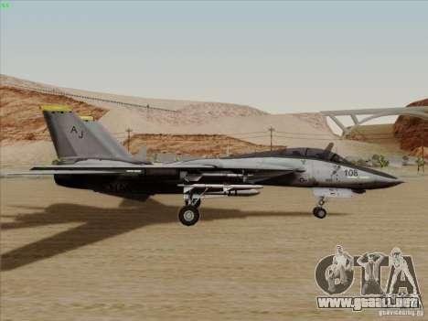 F-14 Tomcat Warwolf para GTA San Andreas vista posterior izquierda
